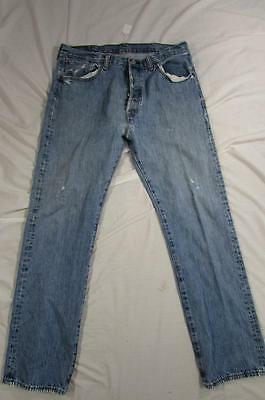 954cdd79a1c VTG 80S LEVI 501 USA Made Bleached Faded Denim Jeans Measure 32.5x33 ...