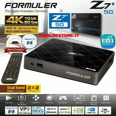 FORMULER Z7+ 5G IPTV 4K Set-Top Box Android 7.0 RAM 2Go/8Go FLASH WiFi (VIERGE)