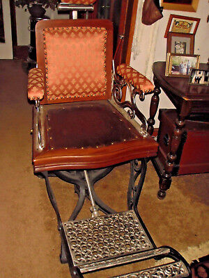 Antique Archer Barber Shop Chair Restored Condition 1860