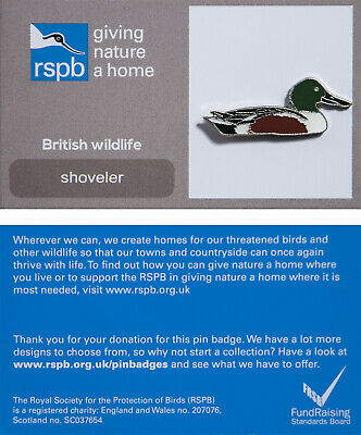 RSPB Pin Badge | shoveler GNAH (01181)