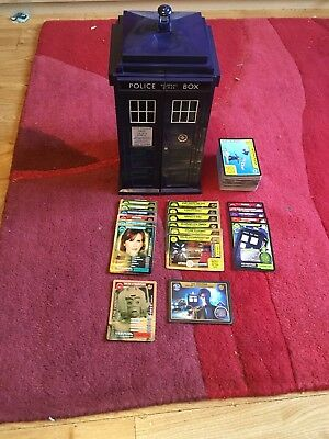 Over 120 Monster Invasion / Extreme Dr Who Cards And Tardis Case - Autograph
