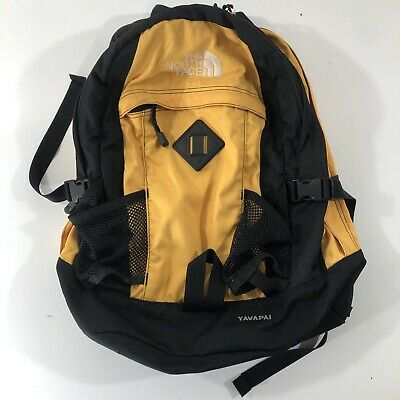 df1db69aa THE NORTH FACE Backpack Yavapai Yellow Black Hiking School Day Pack Travel  Carry