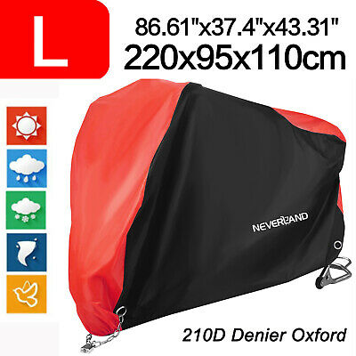 L 210D Dust Bike Motorcycle Cover Waterproof Outdoor Rain Scooter Protector Red