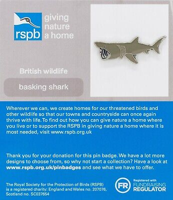 RSPB Pin Badge | basking shark GNAH (01345)