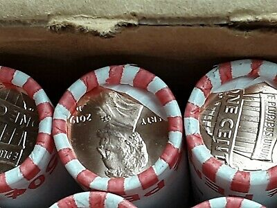 5 Rolls 2019 Pennies! Denver Minted coins. Brand new from Bank!