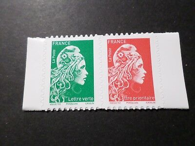 FRANCE, 2018, PAIRE timbres neufs MARIANNE ENGAGEE AUTOADHESIFS, MNH STAMPS