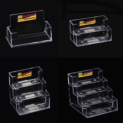 Business Card Holder / Acrylic Stand / Landscape Desktop Storage Case Dispenser