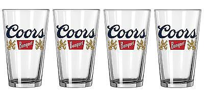 Coors Original The Banquet Beer 4 Bar Pub Beer Pint Glasses New