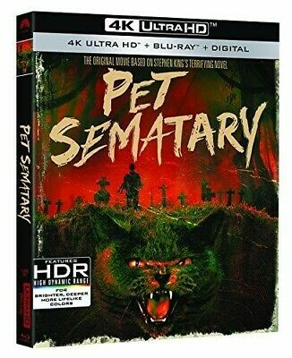 Pet Sematary (30th Anniversary) [New 4K Ultra HD] With Blu-Ray, 4K Mastering,