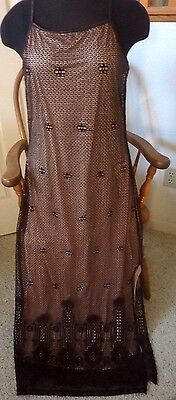 *~Dress*~Compagnie Internationale*~Express*~9/10*~Brown*~Knit-Lace*~Lined*~NWT*~