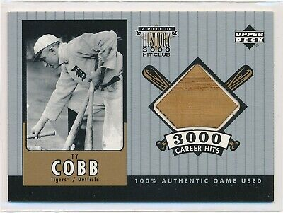 Ty Cobb 2000 Upper Deck una Pieza de Historia 3000 Hit Del Club Bat / 350 Tigers
