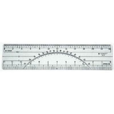 C-Thru W39 6 in. Protractor Ruler 20 and 40 Parts To The Inch