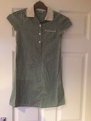 Back To School Branded girls green check school pinafore dresses age 8 Pre Owned
