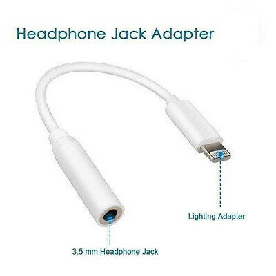 Lightning to 3.5mm Headphone Audio Jack Aux Adapter for iPhone 7 8 PLUS X Xs Max