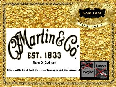 Martin and Co. Guitar Headstock Decal Restoration Waterslide Logo 141g