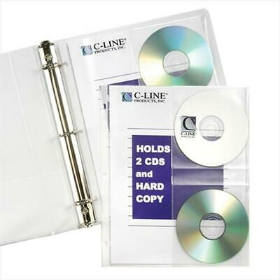 C-Line Products 61747BNDL3PK CD-Document Ring Binder Pages 10-PK - Set of 3 PK