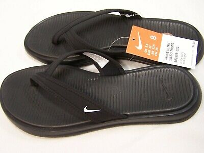 b010677bce7a WOMEN S NIKE ULTRA CELSO THONG FLIP FLOP SANDALS BLACK WHITE 882698-002 Size  8
