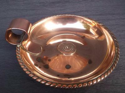 295/ Beautiful Antique 19Th Century Hand Made Arts & Crafts Copper Trinket Dish