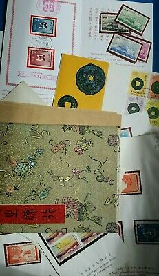 China Taiwan Big Lot Of16 Mh On Presentation Sheets Stamps High Values Nice Mix