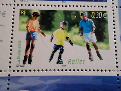 FRANCE 2004, timbre 3700, SPORTS de GLISSE, ROLLER, neuf , MNH STAMP