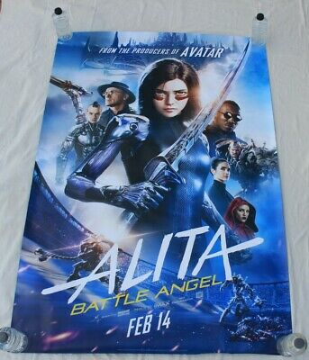 Alita Battle Angel James Cameron BUS SHELTER MOVIE POSTER 4'x6'
