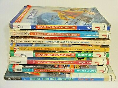 Lot of 8 Vintage Choose Your Own Adventure & Similar Ex Library Rough CYOA Auc7