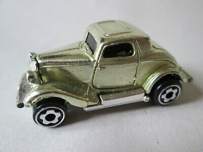 1979 Hot Wheels Mini Ford 3-Window Classic Hot Rod Car (Gold Chrome) 1.7/8""