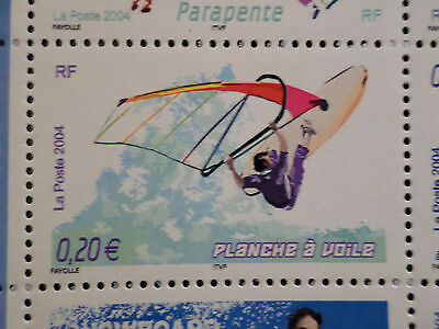 FRANCE 2004, timbre 3693, SPORTS de GLISSE, PLANCHE A VOILE, neuf , MNH STAMP