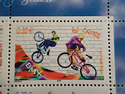 FRANCE 2004, timbre 3696, SPORTS de GLISSE, BICROSS, neuf , MNH STAMP