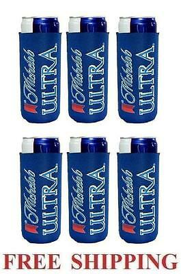 Michelob Ultra Slim Can 6 Cooler Coozie Coolie Koozie Huggie New Bud Budweiser