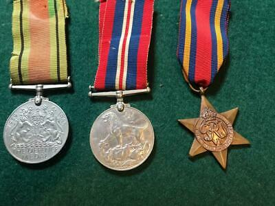 Trio Vintage WW.2 British Issue Medals - Star, The War Medal & Defence Medal