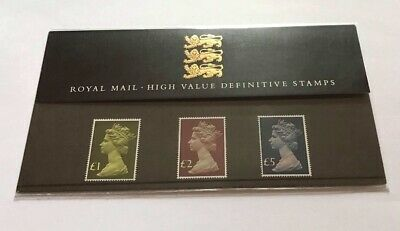 Gb 1987 Scarce No. 13 Royal Mail Presentation Pack High Value Definitive Stamps
