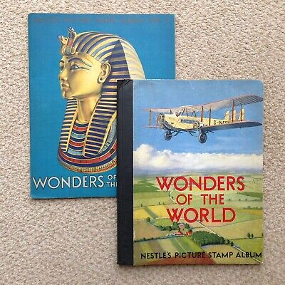 Albums 1 & 2 + Extras - Complete Nestle Wonders of the World Picture Stamps 1932