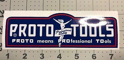 "Proto Tools Red White Blue Los Angeles decal for vintage tool box  6 1/4"" Long"