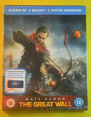 New and Sealed The Great Wall 3D Steelbook Bluray UK Limited Edition