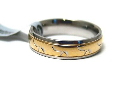 Hypoallergenic Ring Gold PVD 316L Surgical Steel 6 mm New Size 7.5