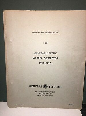 General Electric 4ST5A4 Marker Generator Instructions Manual w/schematics