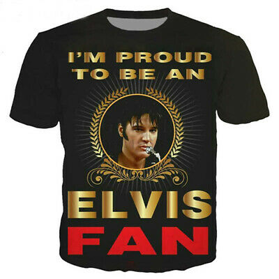 Women Men 3D Print T-Shirt Singer King Elvis Presley Shirt Short Sleeve Tops Tee