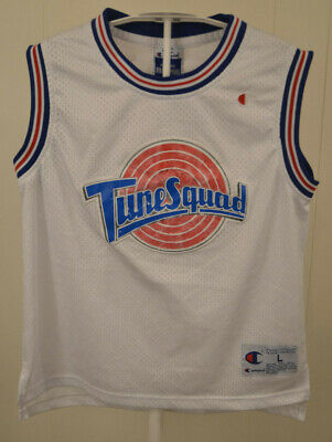 "6599e4b4cf35b1 Champion ""Tune Squad"" Space Jam Jersey  23 Michael Jordan Kids Large 14-"