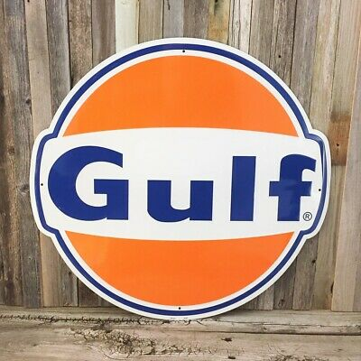 "GULF-4 8/"" 1936-54 GULF GASOLINE DECAL OIL CAN GAS PUMP LUBSTER"