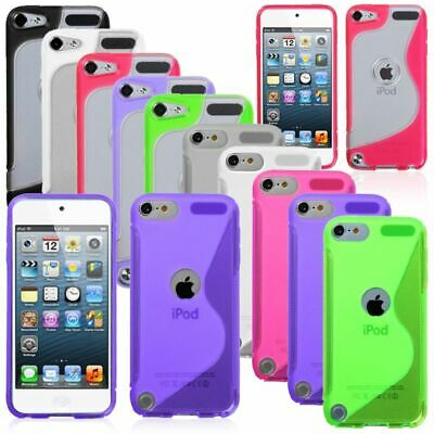 Pink/Purple/Black/White S Shape Gummy Skin Case Cover For ipod touch 5 6 5G 5th