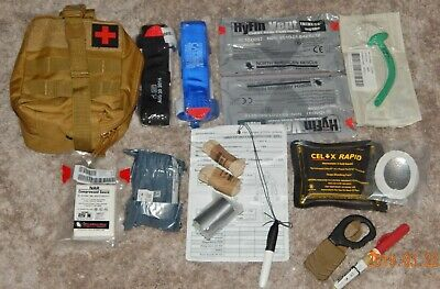 North American Rescue  SIRK Gen2 Ifak Resupply Kit Gen 7 Cat Tourniquets +Pouch