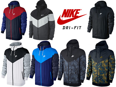 NIKE DRI-FIT Windrunner Jackets Hooded Outdoor Windbreaker Fleece Activewear