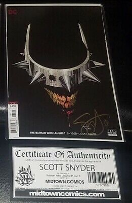 Batman Who Laughs 1 Cover B Greg Capullo Variant Signed Gold Ink By Scott Snyder