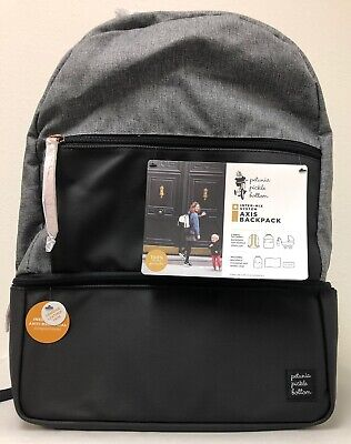Petunia Pickle Bottom Axis Baby Diaper Bag Backpack Graphite/Black NEW