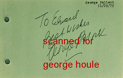 George Pollock - Signed - Agatha Christie  - Murder She Wrote -Dickens