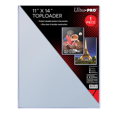 "(1) Ultra Pro 11"" x 14"" Toploader Memorabilia Artwork Photo Lithograph Holder"