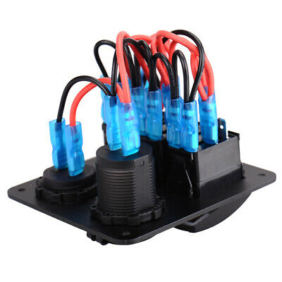 IP65 3 Gang-Auto-Boot Marine-LED USB-Switch Panel Automotive Toggle Rocker