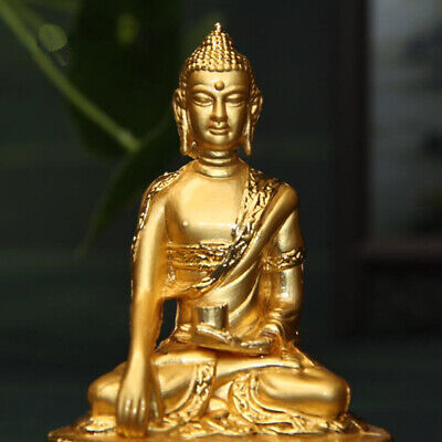 Collection fine workmanship Copper Handwork carved Sakyamuni Buddha small statue