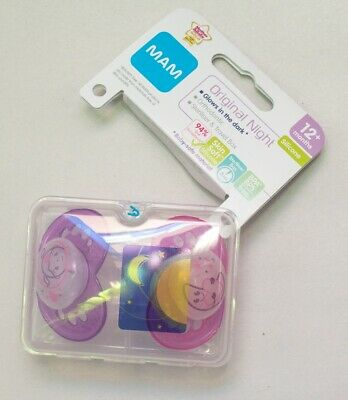 Mam Night Soother Twin Pack - 12m+ **NEW WITH DAMAGED PACKAGING** (D59)